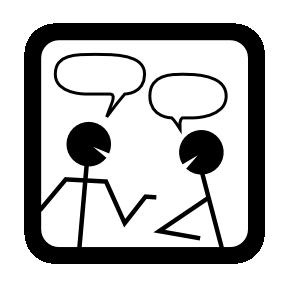 team talking together
