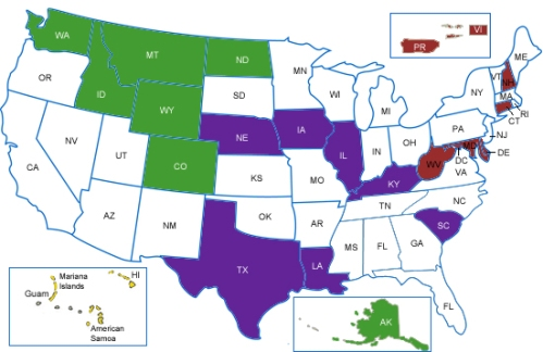 map of states invited to 2012 summits