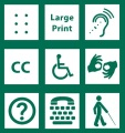 Picture of Items Needed for Accessible Meeting