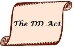 DD Act Written on Scroll